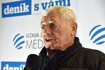 Olympijský festival v areálu brněnského výstaviště - beseda s hokejovou legendou Jozefem Golonkou.
