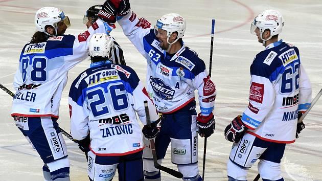 Tipsport extraliga ledního hokeje mezi domácí Kometou Brno a Piráty z Chomutova.