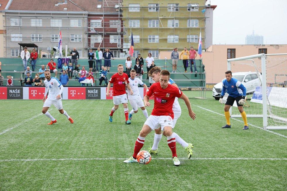 Čeští hráči malé kopané ovládli mistrovství Evropy do 21 let. Fotky z finálového dne.