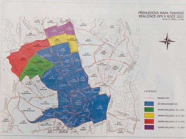Nové modré zóny brněnského rezidentního parkování.