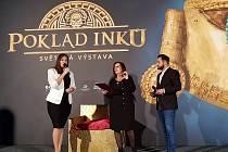 Brno 31.10.2019 - zahájení výstavy Poklad Inků v pavilonu C brněnského výstaviště.