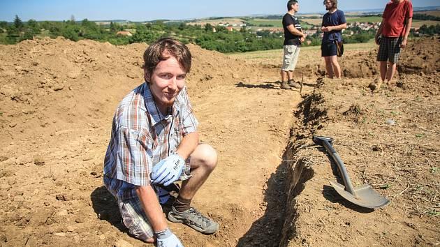 Archeologické vykopávky v brněnské Líšni.