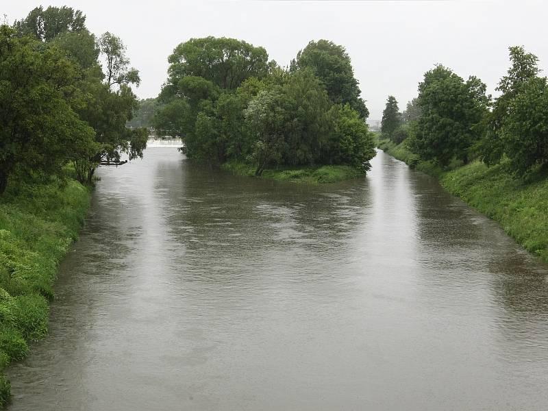 Soutok řeky Svitavy a Svratky v Brně v pondělí 3. 6. 2013.