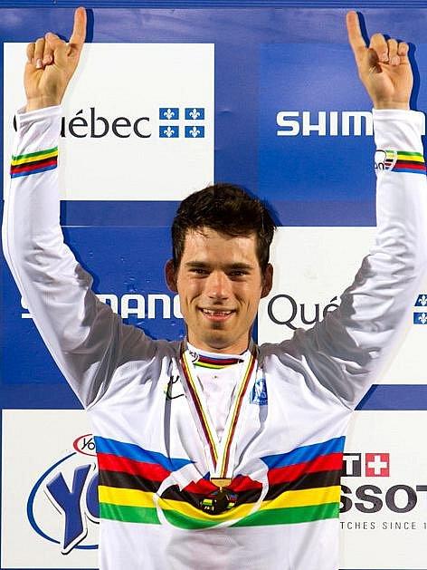 Cyklista Tomáš Slavík.
