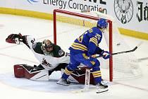 Karel Vejmelka zvládl svou premiéru v NHL na jedničku.