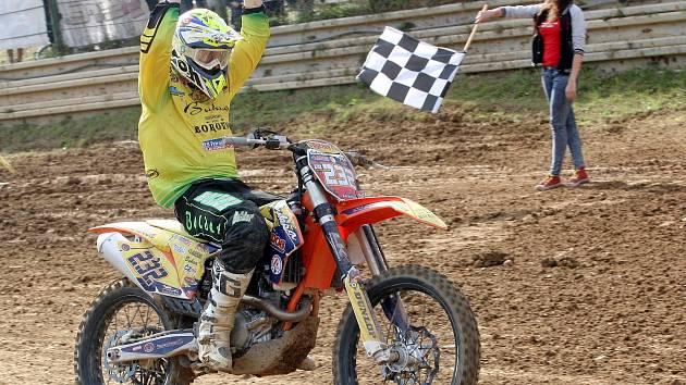 Mezinárodního mistrovství České republiky v motokrosu ve Vranově u Brna. Ilustrační foto.