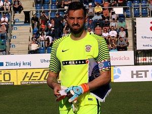 Brankář Dušan Melichárek.