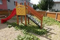 Černovické trápí v posledních dnech dětská hřiště zarostlá plevelem. Jsou podle nich nebezpečná.