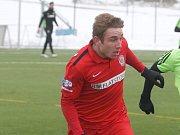 V utkání 29. kola Zbrojovka Brno (v červeném) nevstřelila Jihlavě branku a po remíze 0:0 si definitivně zpečetila sestup do druhé ligy.