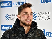 Olympijský festival v areálu brněnského výstaviště - beseda s bedmintonistou Adamem Mendrekem v zóně Deníku.
