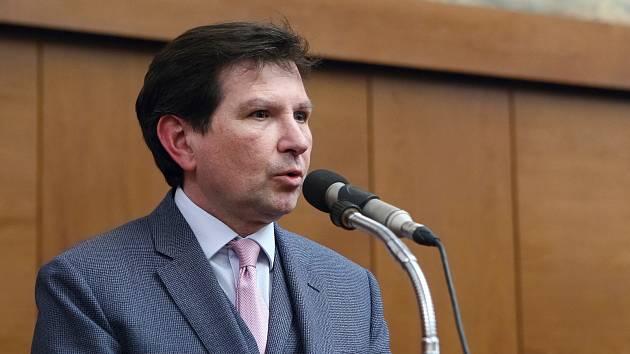 Brno 1.4.2019 - volba nového rektora brněnské Masarykovy univerzity - nový rektor Martin Bareš
