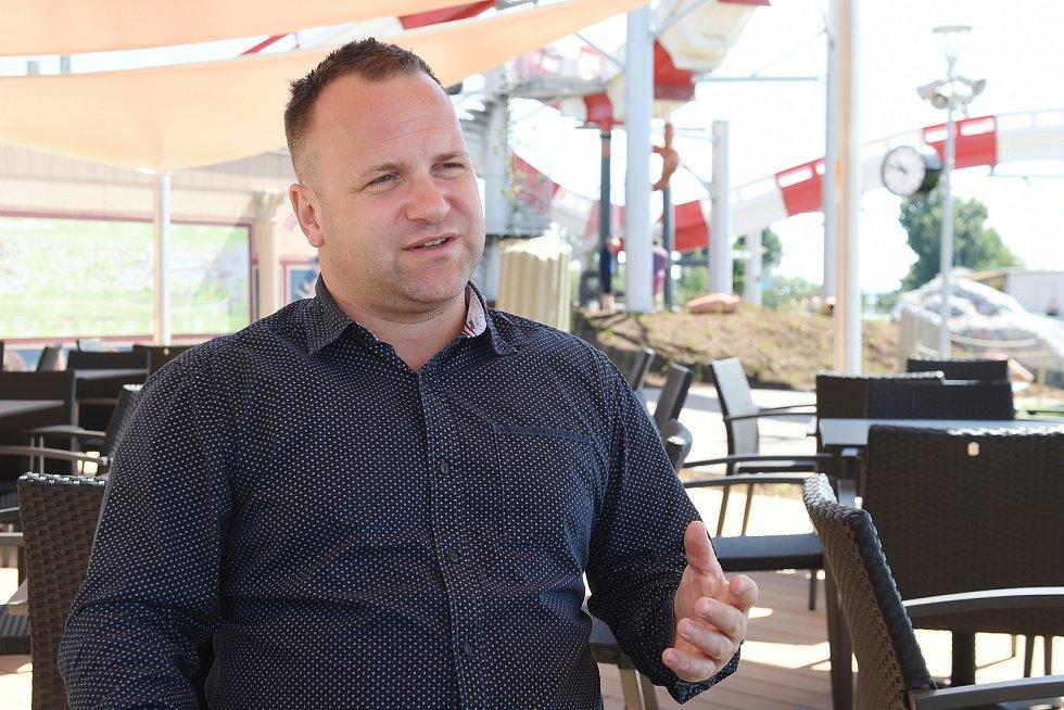 Brno 14.7.2020 - ředitel Aqualandu Moravia Petr Pavlacký