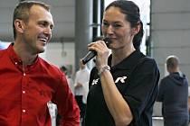 Sportovkyně Šárka Kašpárková předcvičovala tance zájemcům na veletrhu Sport Life v Brně.