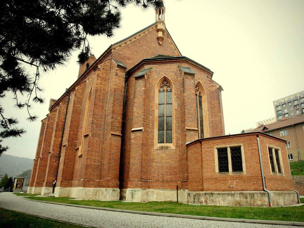 Kostel svaté Barbory v Adamově.