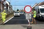 Opravená Legionářská ulice v Kuřimi.