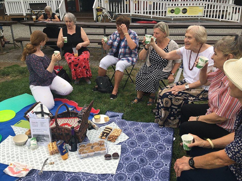 Akce Česko jde spolu na piknik vyzvala lidi z různých míst naší země, aby pořádali ve stejný čas piknik. Na snímku akce na Pankráci v Praze.