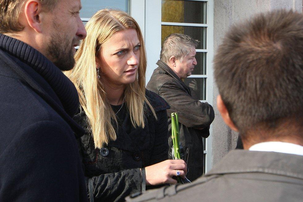 Pohřeb tenistky Jany Novotné na Ústředním hřbitově v Brně. Na snímku Petra Kvitová.