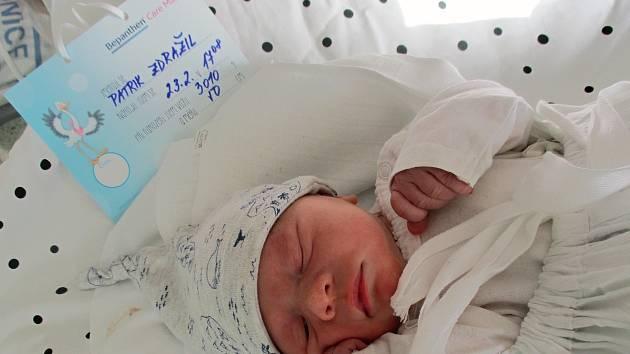Patrik Zdražil, 23. 2. 2021, Břeclav, Nemocnice Břeclav, 3010 g, 50 cm