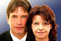 Primátor Roman Onderka a náměstkyně primátora Barbora Javorová.