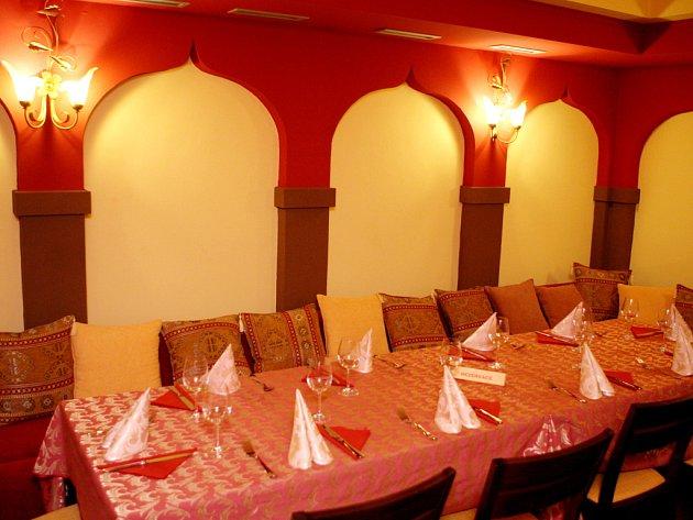 Indická restaurace Satyam.
