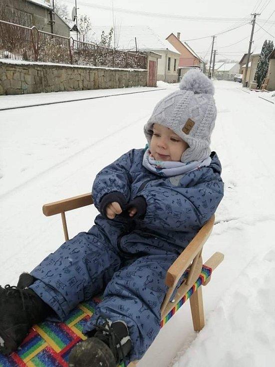 """""""Nás sníh potěšil aspoň se vytáhly sáňky. Škoda že brzy roztaje."""""""