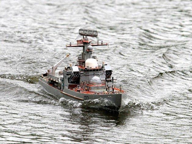 Rekonstrukce bitvy u Midway. Ilustrační foto.