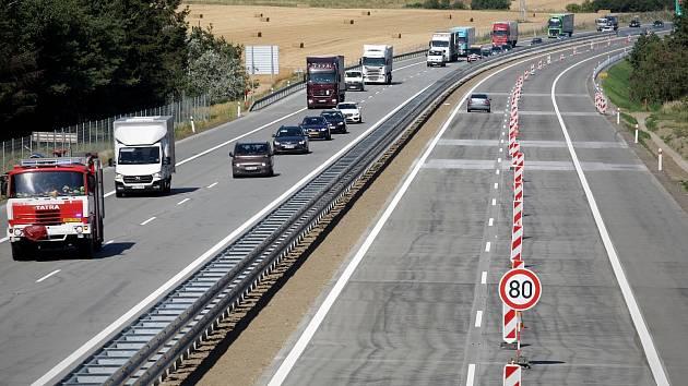 Dálnice D1 v okolí Brna, ilustrační foto