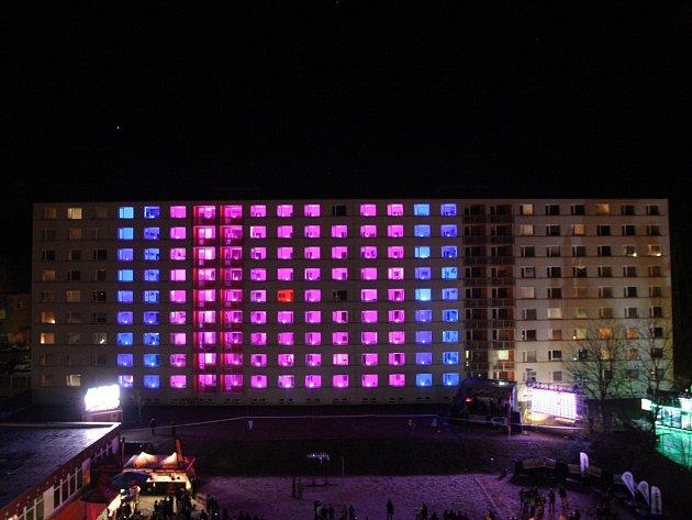 Světelná show v Brně.