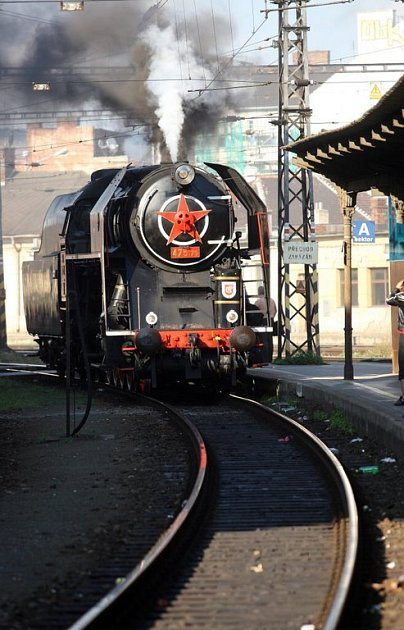 Historická lokomotiva v Brně