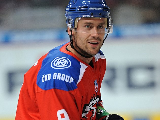 Hokejový obránce Jiří Hunkes.