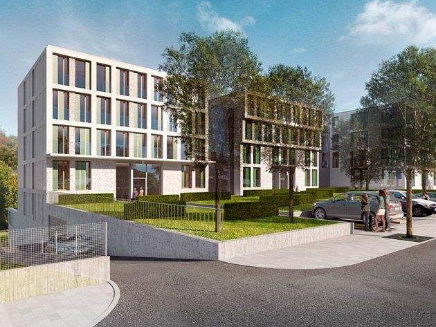 Vizualizace bytového domu, který má vyrůst v Neumannově ulici v městské části Brno-střed.