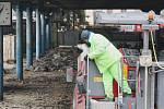Lednové opravy brněnského autobusového nádraží na Zvonařce, které také mohou mít vliv na vyšší prašnost.