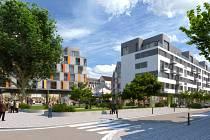 Vizualizace plánovaného víceúčelového domu mezi ulicemi Veveří a Kounicova podle návrhu známé architektky Evy Jiřičné. Ilustrační foto.