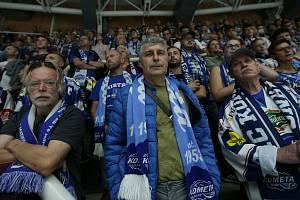 Fanoušci při letošní domácí premiéře hokejové Komety Brno.