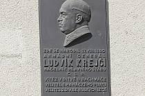 Pamětní deska generála Ludívka Krejčího v Brně.