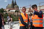 Návštěva premiéra Andreje Babiše na brněnském hlavním vlakovém nádraží.