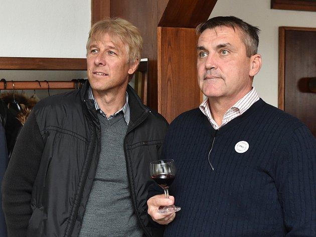 Petr Vokřál ve volebním štábu ANO.