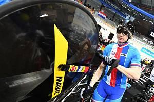 Dráhový cyklista Robin Wagner.