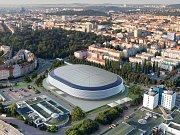 Vizualizace původně plánovaného nového hokejového stadionu za Lužánkami. Ilustrační foto.