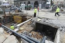 Výměna parovodu za horkovod v centru města Brna.
