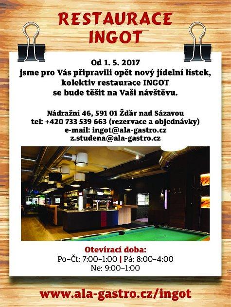 41. Restaurace Ingot Žďár nad Sázavou