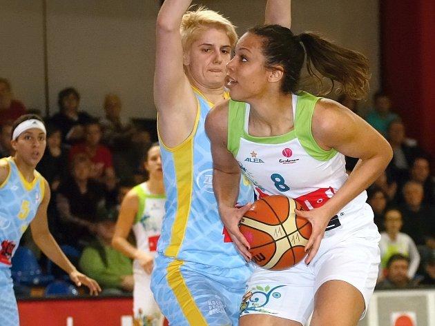 Basketbalistky Imosu padly s pražským USK i podruhé.