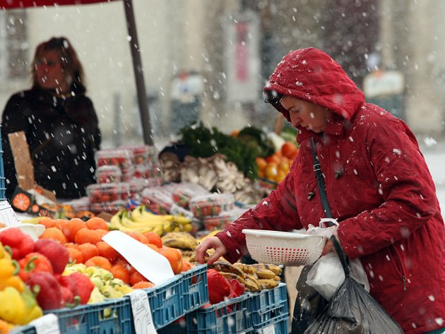 Do Brna opět přišla zima