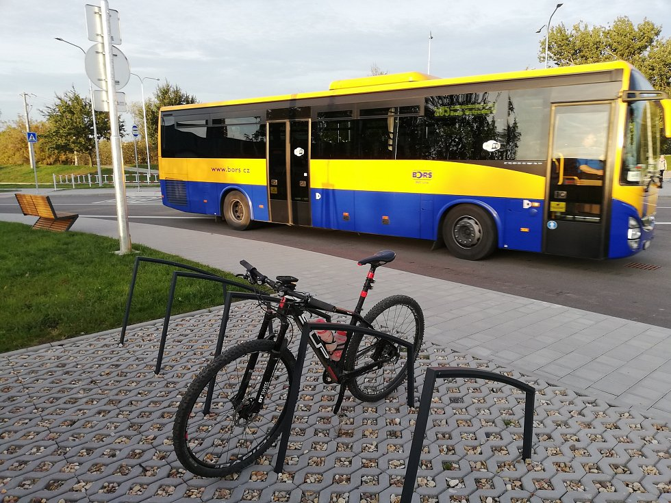 Dopravní uzel v Židlochovicích.