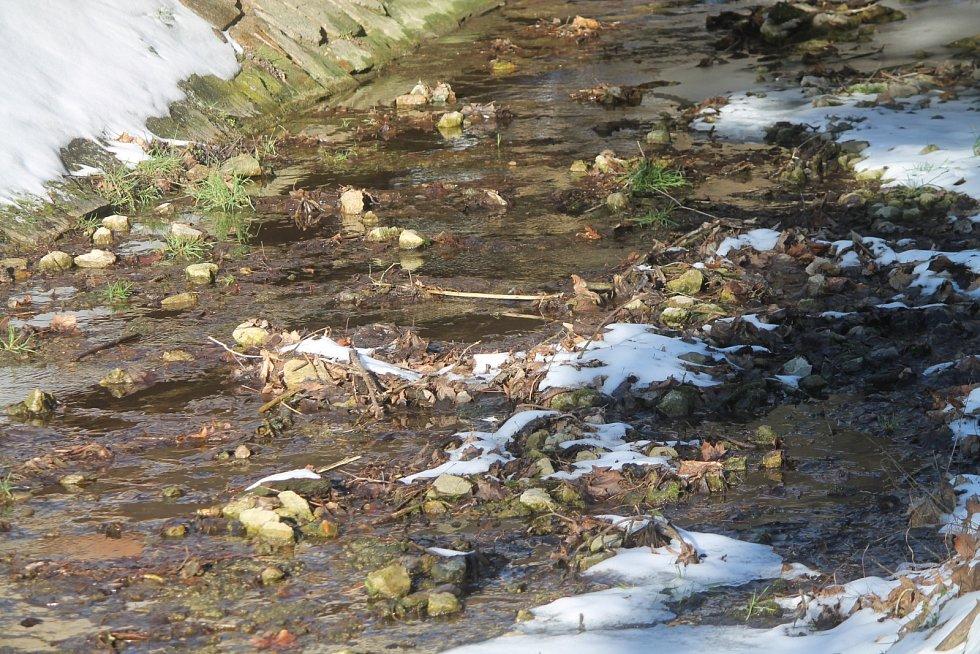 Gránický potok ve Znojmě plní obvykle v tuto dobu daleko více vody.