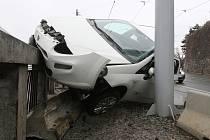 Dopravní nehoda v ulici Husova v Brně.