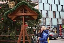 Tradiční vánoční zvon přání zmizel z náměstí Svobody v Brně.