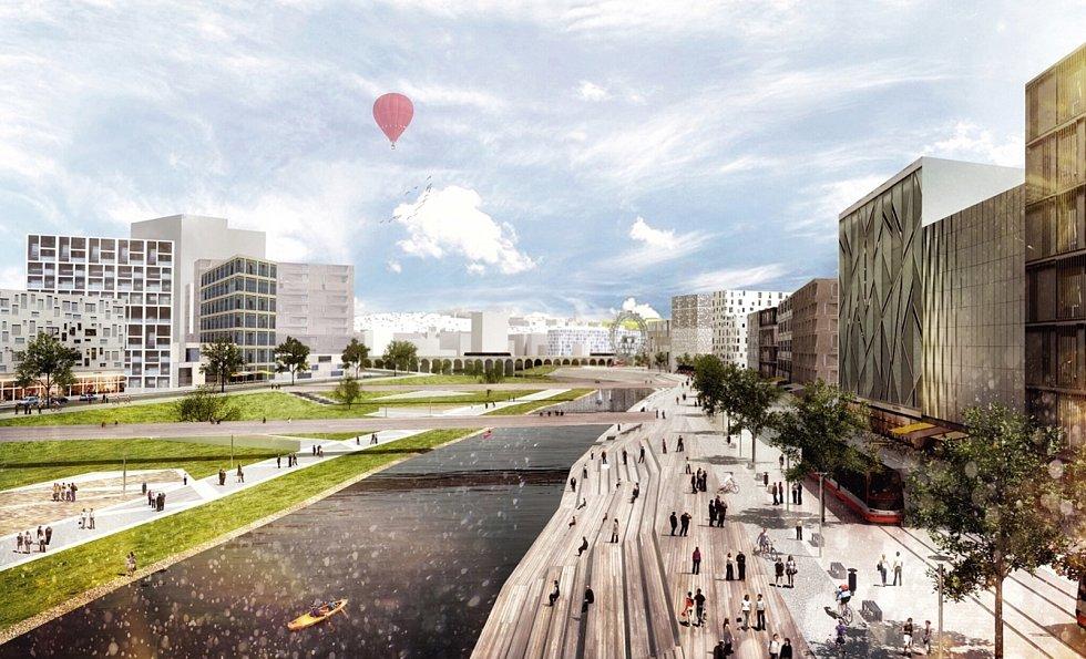 Ideový návrh možné podoby nového hlavního železničního nádraží a jeho širokého okolí v Brně, který pochází z ideové soutěže z roku 2016. Skončil v ní na druhém místě.