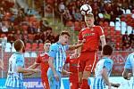 20. kolo Fortuna národní ligy mezi FC Zbrojovkou Brno (červená) a 1. SK Prostějovem.