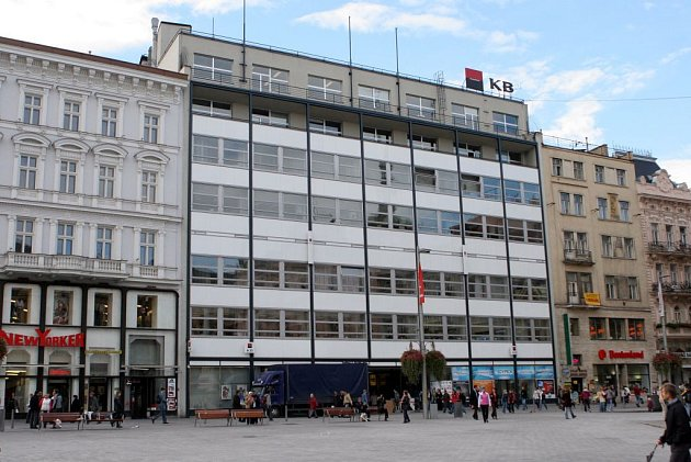 V těchto místech sídlila Moravská banka